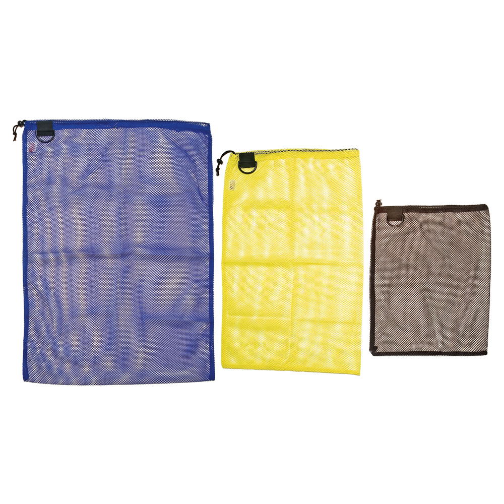 Econo Mesh Drawstring Bag with D-Ring