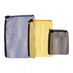 Mesh Drawstring Bag with Strap