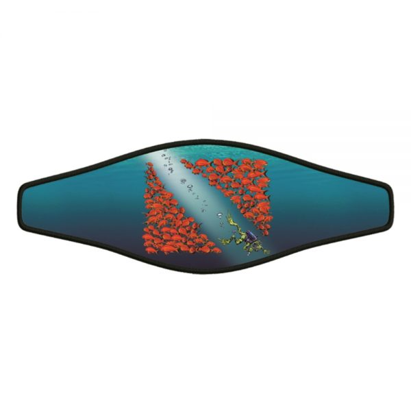 Picture Strap-Wrapper – Red Fish Flag with Frog 1