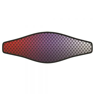 Picture Buckle Strap - Fish Scales - Red