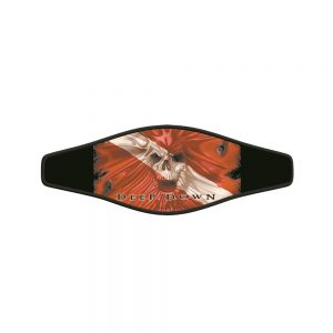 Picture Buckle Strap - Skull Flag
